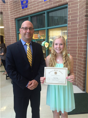 Dr. C with Principal's Award recipient