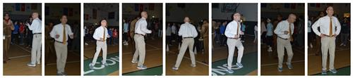 Dr. C dancing at the 8th Grade Dance