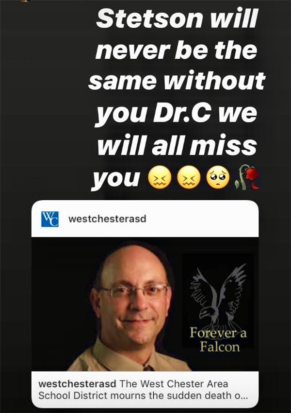 Stetson will never be the same without you Dr. C we will all  miss you