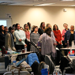 Teachers engage in professional development