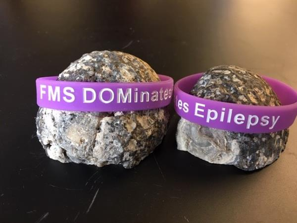 Wristbands sold by students to raise money for epilepsy research