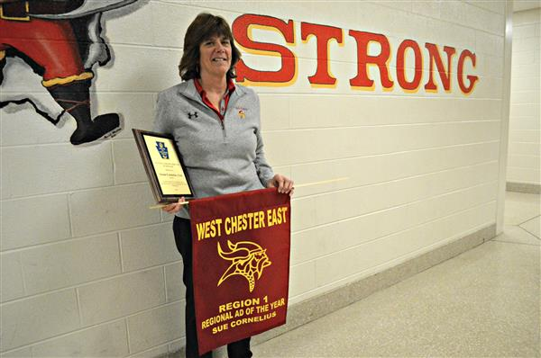East High School Athletic Director Sue Cornelius
