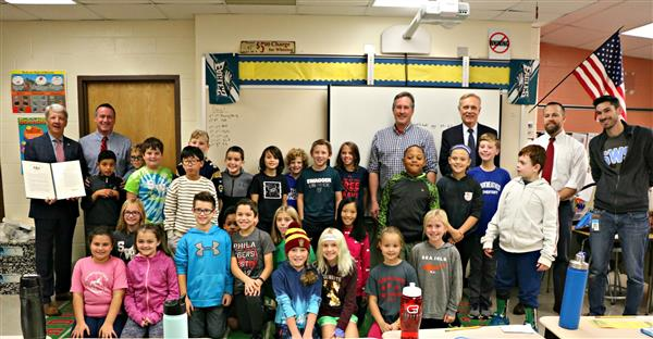 Senator Tom Killion visits Mr. Ambrosino's class